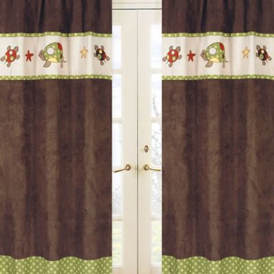 Sweet Jojo Designs Turtle Window Panel Pair in Multi