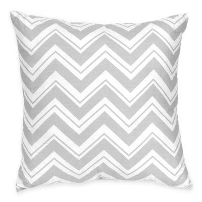 Sweet Jojo Designs Zig Zag Reversible Throw Pillow in Pink/Grey