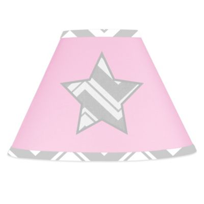 Sweet Jojo Designs Zig Zag Lamp Shade in Pink/Grey