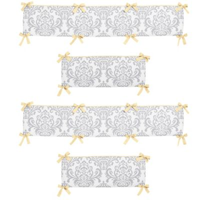 Sweet Jojo Designs Avery Crib Bumper in Yellow/Grey