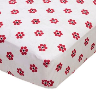 Bananafish® Poppy Fitted Crib Sheet