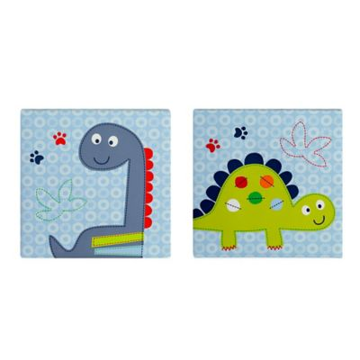 Bananafish® Little Dino 2-Piece Wall Art Set