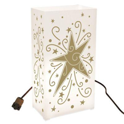 Electric 10-Count Star Design Luminaria Lantern Kit
