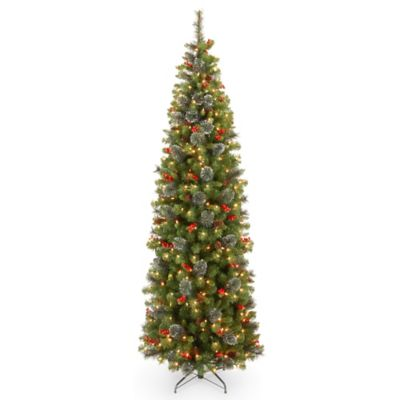 National Tree 7.5-Foot Crestwood Spruce Christmas Tree with Pine Cones