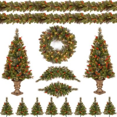 National Tree Crestwood Christmas Spruce Assortment with Lights