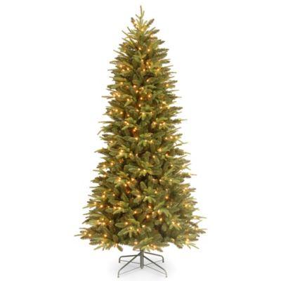 Slim Pre Lighted Christmas Trees