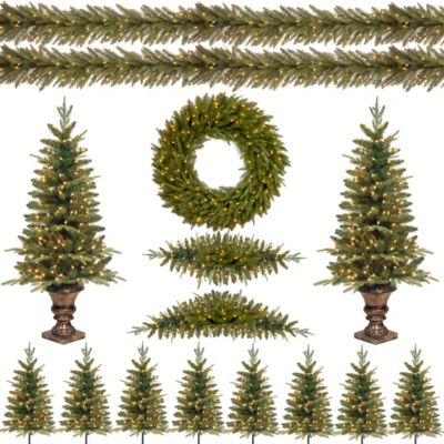 National Tree Feel-Real® Christmas Pomona Pine Assortment with Lights