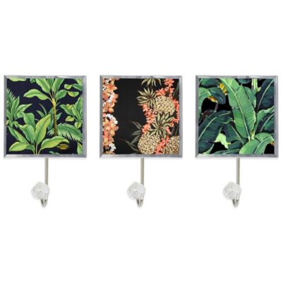 Tropical Decorative Wall Hooks (Set of 3)