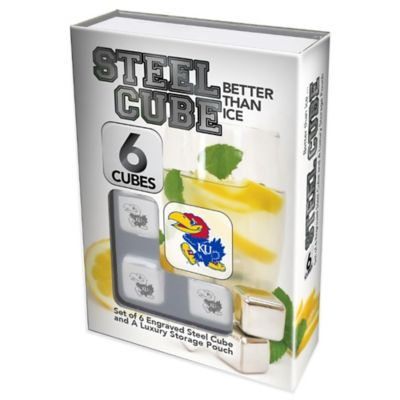 University of Kansas Steel Cubes (Set of 6)