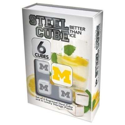 University of Michigan Steel Cubes (Set of 6)