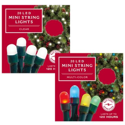 Sets of Lighted Christmas Wreaths