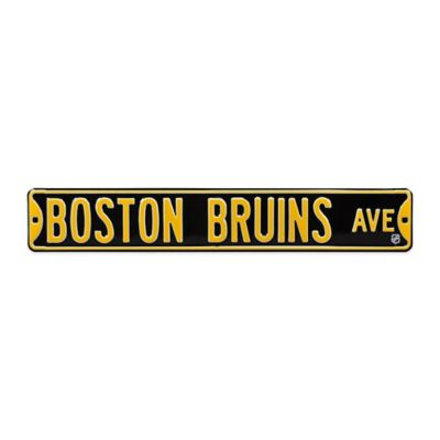 NHL Boston Bruins Steel Street Sign