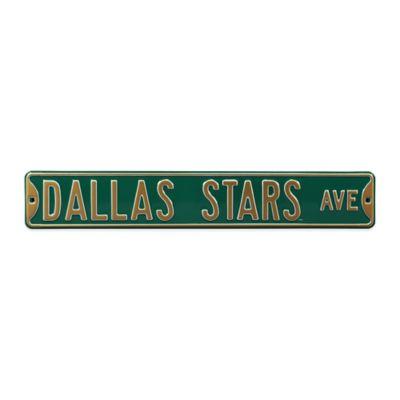 NHL Dallas Stars Steel Street Sign