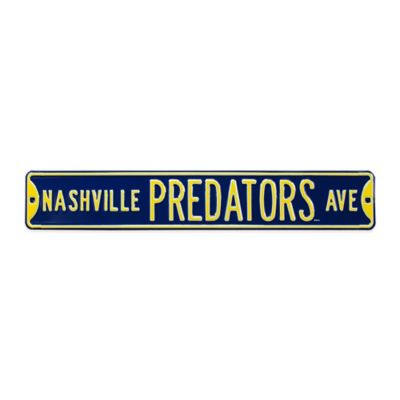 NHL Nashville Predators Steel Street Sign