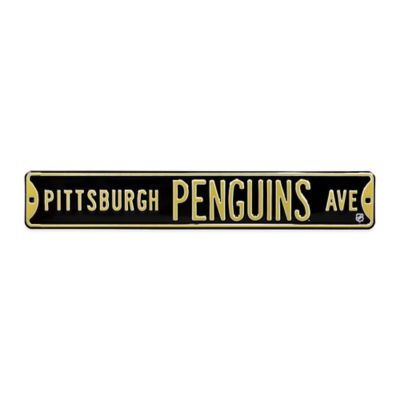 NHL Pittsburgh Penguins Steel Street Sign
