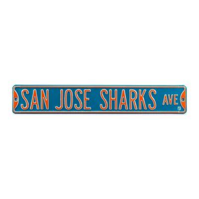 NHL San Jose Sharks Steel Street Sign