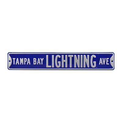 NHL Tampa Bay Lightning Steel Street Sign