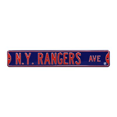 NHL New York Rangers Steel Street Sign