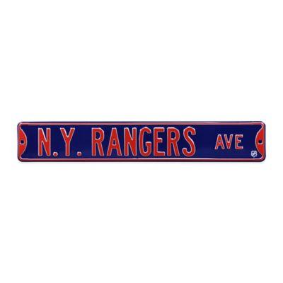 NHL New York Rangers Steel Street Sign