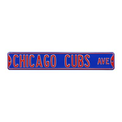 MLB Chicago Cubs Steel Street Sign