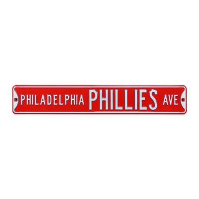 MLB Philadelphia Phillies Steel Street Sign