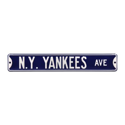 MLB New York Yankees Steel Street Sign