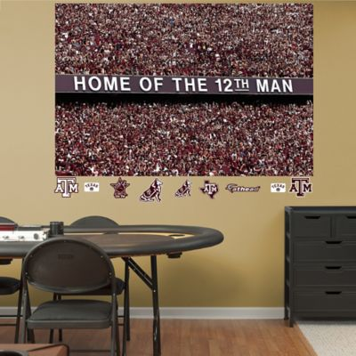Fathead® Texas A&M University 12th Man Mural Wall Graphic