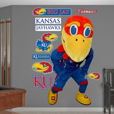 Fathead® University of Kansas Big Jay Mascot Wall Graphic