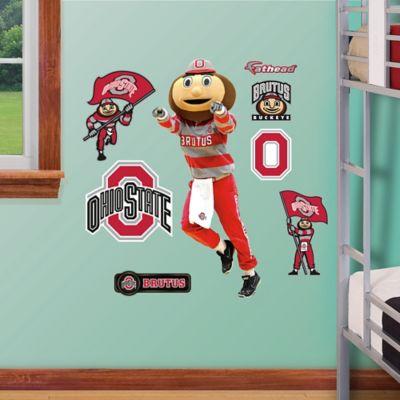 Fathead® Ohio State University Brutus Buckeye Mascot Junior Wall Graphic