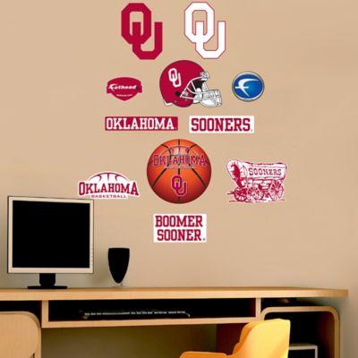 Fathead® University of Oklahoma Sooners Assortment Logo Wall Graphic