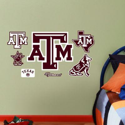 Fathead® Texas A&M University Aggies Assortment Logo Junior Wall Graphic