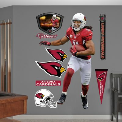 Fathead® NFL Arizona Cardinals Larry Fitzgerald Home Wall Graphic