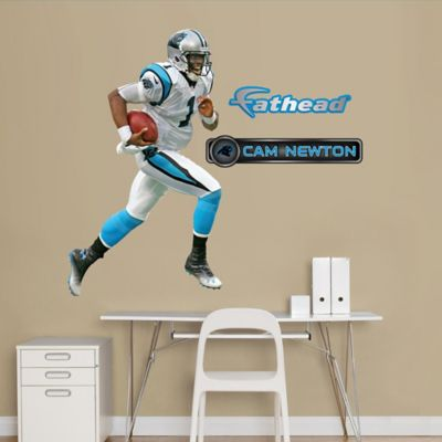 Fathead® NFL Carolina Panthers Cam Newton Junior Away Wall Graphic