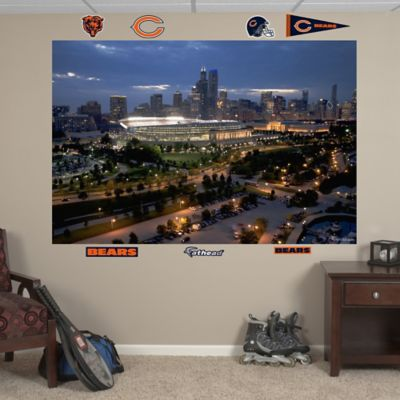 Fathead Chicago Bears Solider Field Skyline Mural Wall Graphic