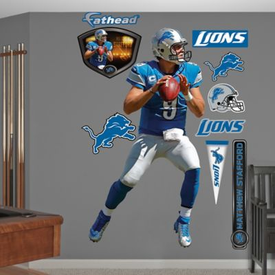 Fathead® NFL Detroit Tigers Matthew Stafford Home Wall Graphic