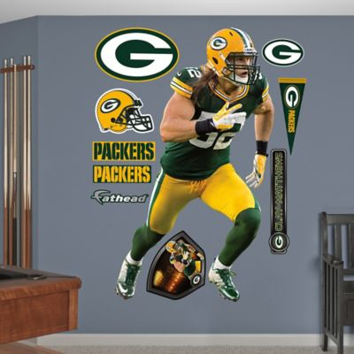 Fathead® NFL Green Bay Packers Clay Matthews Home Wall Graphic