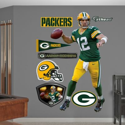 Fathead® NFL Green Bay Packers Aaron Rodgers Home Wall Graphic
