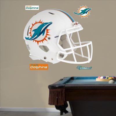 Fathead® NFL Miami Dolphins Revolution Helmet Wall Graphic