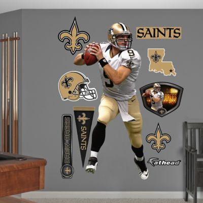 Fathead® NFL New Orleans Saints Drew Brees Away Wall Graphic