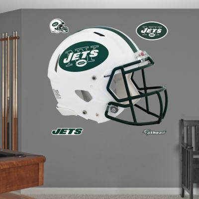 Fathead® NFL New York Jets Revolution Helmet Wall Graphic