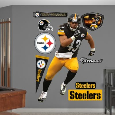 Fathead® NFL Pittsburgh Steelers Troy Polamalu Wall Graphic