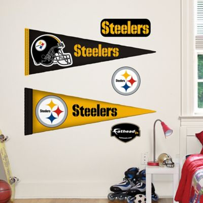 Fathead® NFL Pittsburgh Steelers Pennant Wall Graphic
