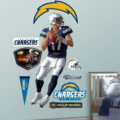 Fathead® NFL San Diego Chargers Phillip Rivers Home Wall Graphic