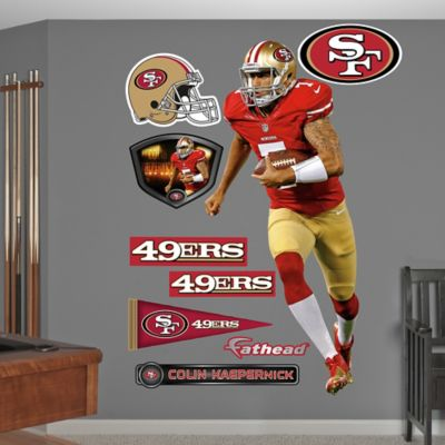 Fathead® NFL San Francisco 49ers Colin Kaepernick Home Wall Graphic