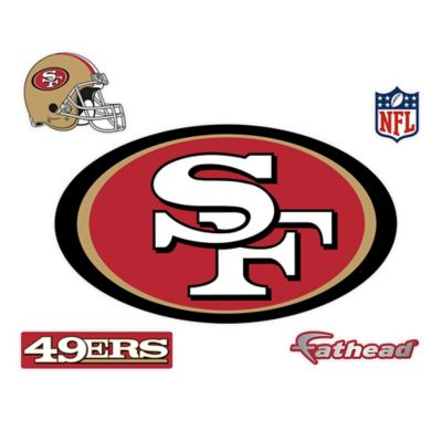 Fathead® NFL San Francisco 49ers Logo Wall Graphic