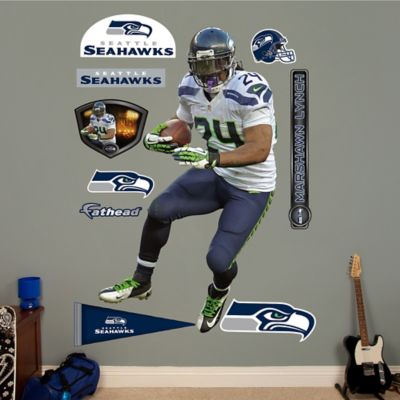Fathead® NFL Seattle Seahawks Marshawn Lynch Wall Graphic