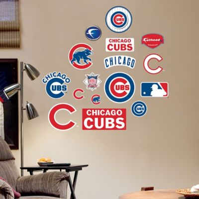 Fathead® MLB Chicago Cubs Logo Sheet Junior Wall Graphic