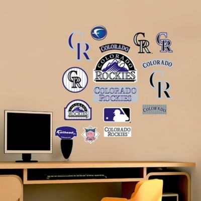 Fathead® MLB Colorado Rockies Logo Sheet Junior Wall Graphic