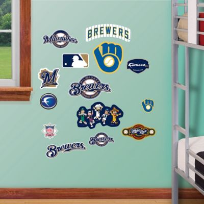 Fathead® MLB Milwaukee Brewers Logo Sheet Junior Wall Graphic