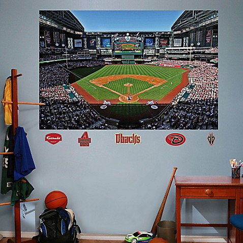 Buy fathead mlb arizona diamondbacks stadium mural wall for Baseball stadium wall mural